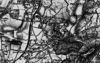 Old map of Wychbury Hill in 1899