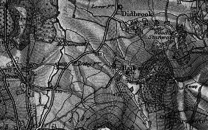 Old map of Hailes in 1896