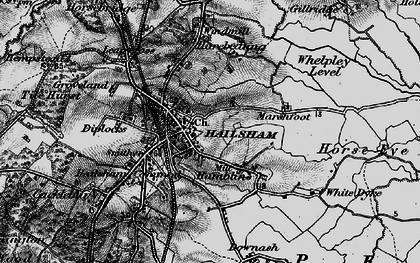 Old map of Lion Ho in 1895