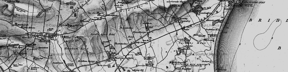 Old map of Wold Gate in 1897