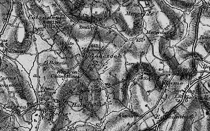 Old map of Halabezack in 1895