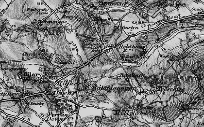 Old map of Halamanning in 1895