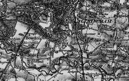 Old map of Hale in 1896