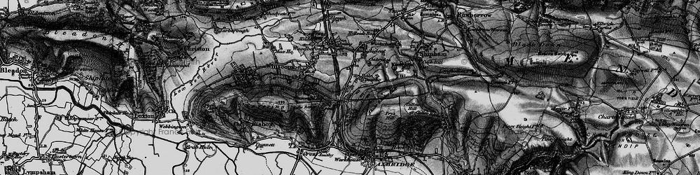 Old map of Winterhead Hill in 1898