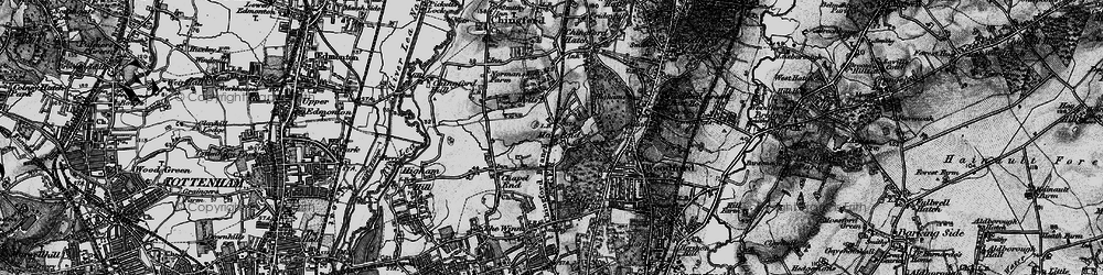 Old map of Hale End in 1896