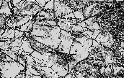 Old map of Hales in 1897