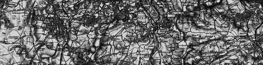 Old map of Halesowen in 1899