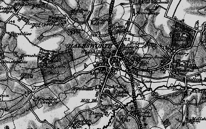 Old map of Halesworth in 1898