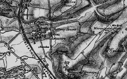Old map of Halfway in 1898