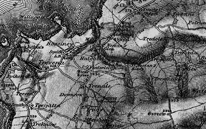 Old map of Halgabron in 1895