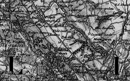Old map of Halkyn in 1896