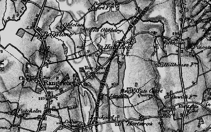 Old map of Yate Lower Common in 1897