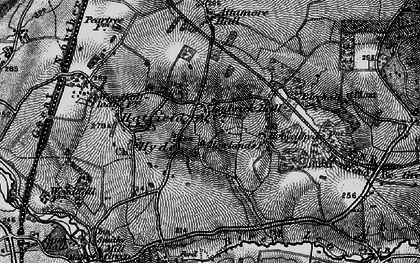 Old map of Hall Grove in 1896