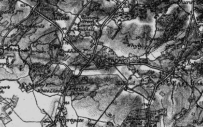 Old map of Halland in 1895