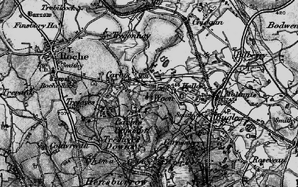 Old map of Hallew in 1895