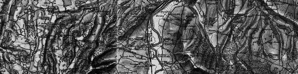 Old map of Halling in 1895