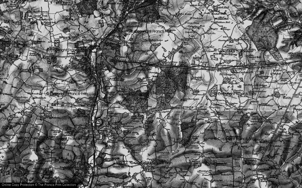 Old Map of Historic Map covering Woods, The in 1896