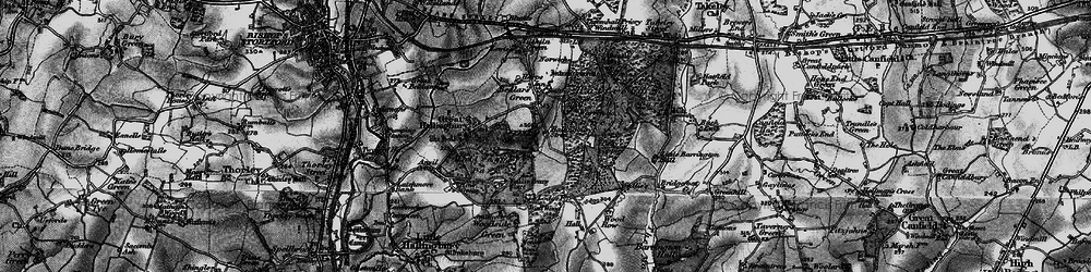 Old map of Woods, The in 1896