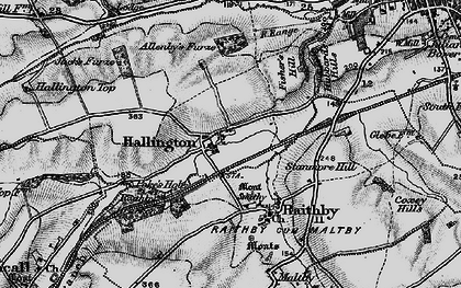 Old map of Allenby's Furze in 1899