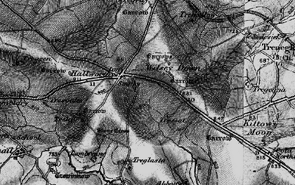 Old map of Hallworthy in 1895