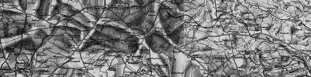 Old map of Wilsey Down in 1895