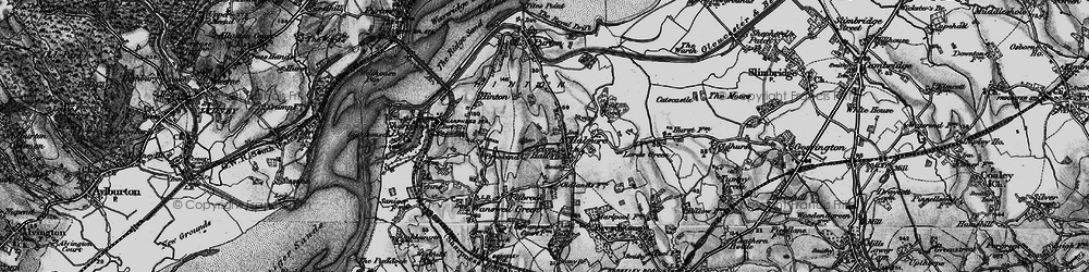 Old map of Acton Hall in 1897