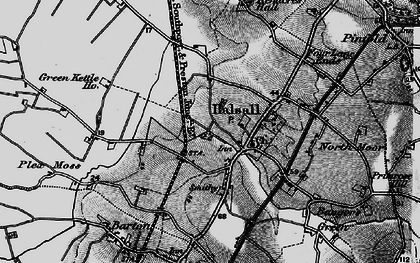 Old map of Halsall in 1896