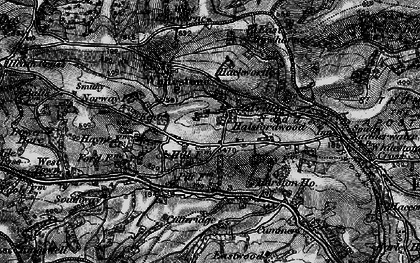 Old map of West Rowhorne in 1898