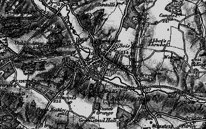 Old map of Halstead in 1895