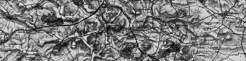 Old map of Tilton Grange in 1899