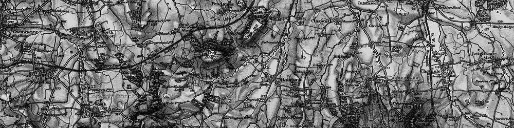 Old map of Halstock in 1898