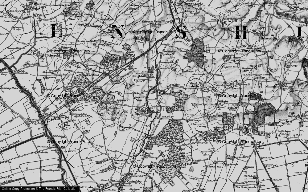 Old Map of Haltham, 1899 in 1899
