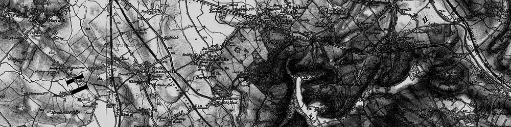 Old map of Halton in 1895