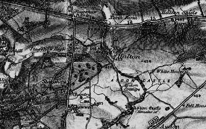 Old map of Whittington Fell in 1897