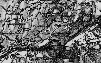 Old map of Laverick Hall in 1898