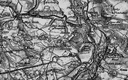 Old map of Halton West in 1898