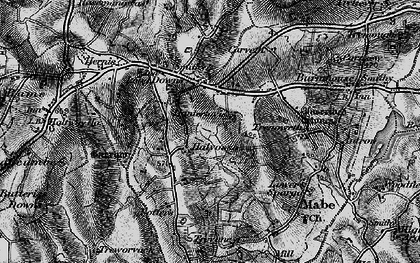 Old map of Halvosso in 1895
