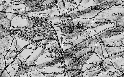 Old map of Winsford in 1895