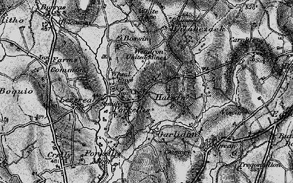 Old map of Halwin in 1895