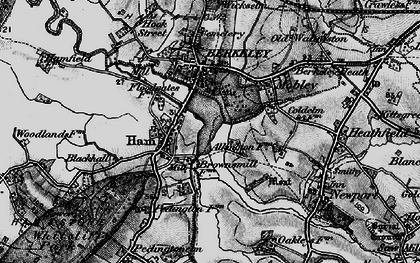 Old map of Ham in 1897