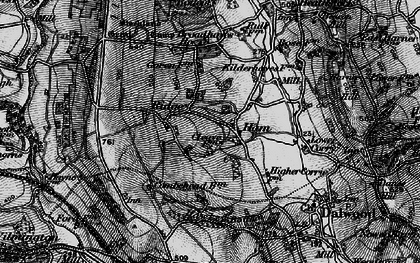 Old map of Yonder Ridge in 1898