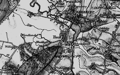 Old map of Ham Green in 1897
