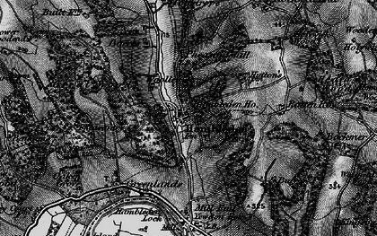 Old map of Hambleden in 1895