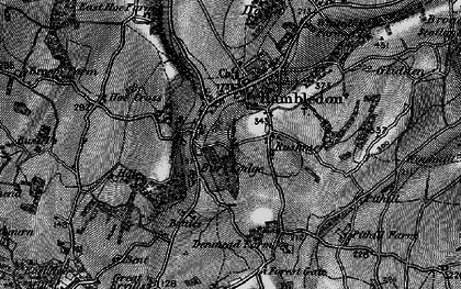 Old map of Hambledon in 1895