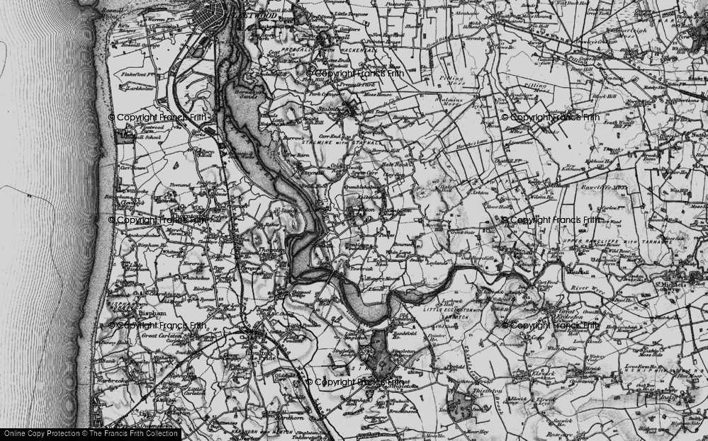 Old Map of Hambleton, 1896 in 1896
