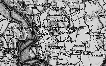 Old map of Hambleton in 1896