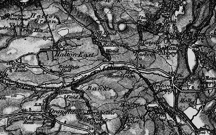 Old map of Barden Scale in 1898