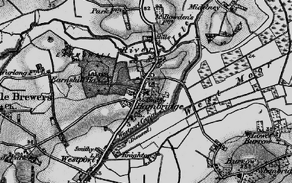 Old map of Westport Canal in 1898