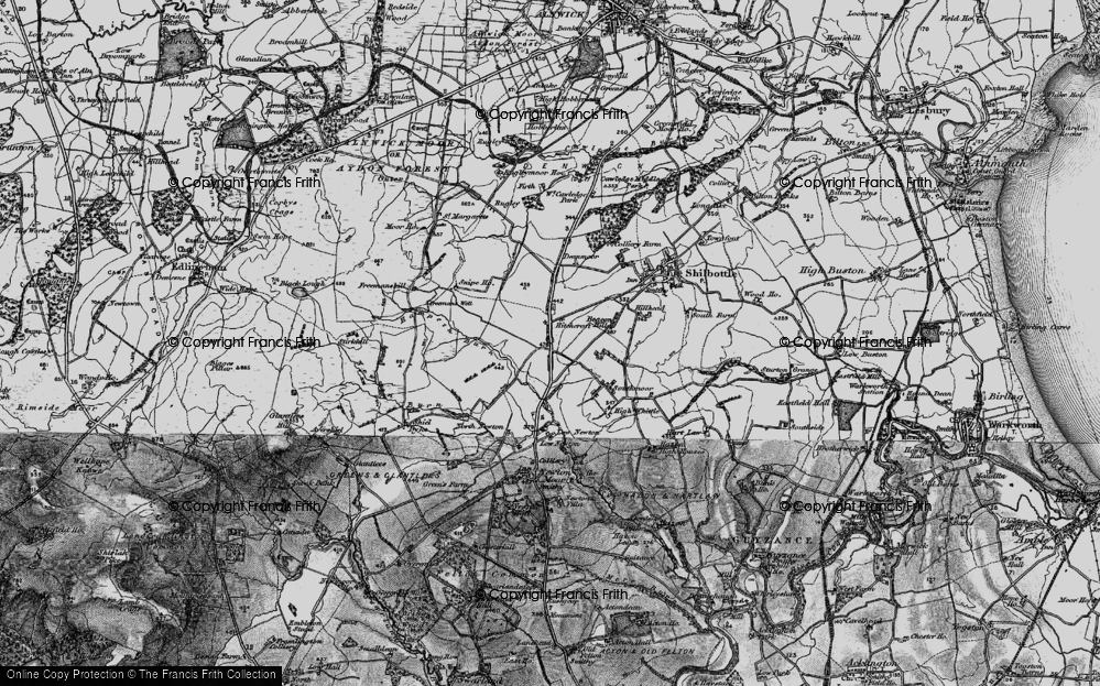 Old Map of Historic Map covering Whittle Colliery in 1897