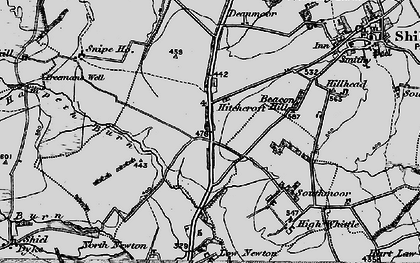 Old map of Whittle Colliery in 1897